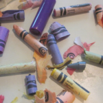 wikki stix and crayon bits: teach children letters and grip