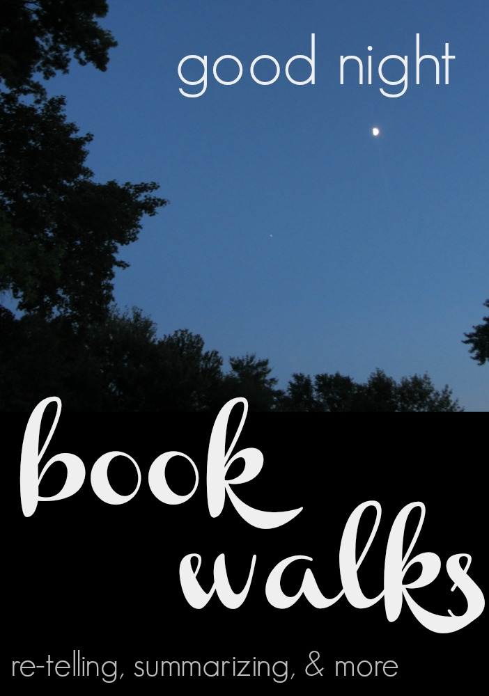 a good-night book walk retelling summarizing cover
