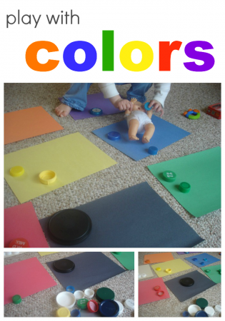colors with cora | using lids to sort and learn colors