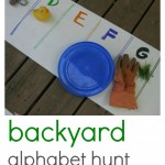 backyard alphabet hunt