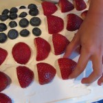 happy fourth flag cake