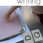 sticky finger writing: writing letters and sight words