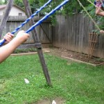 swinging and clapping