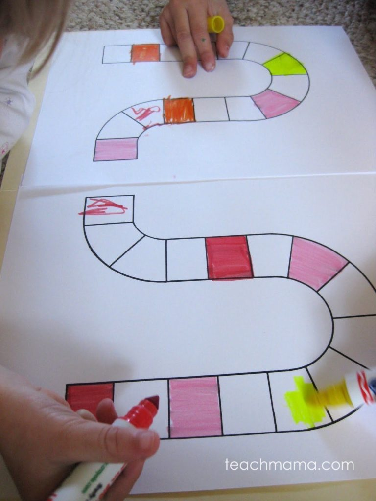 homemade color game | cora's color game | teachmama.com