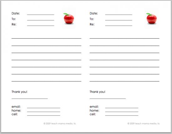 parent teacher notes  home-school communication