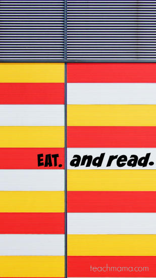 let's eat. . . and read