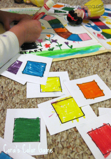 cora's color game: learn colors with a homemade game