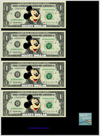 disney dollars | teachmama.com