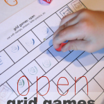 stamping crazy–open grid games for literacy & math learning