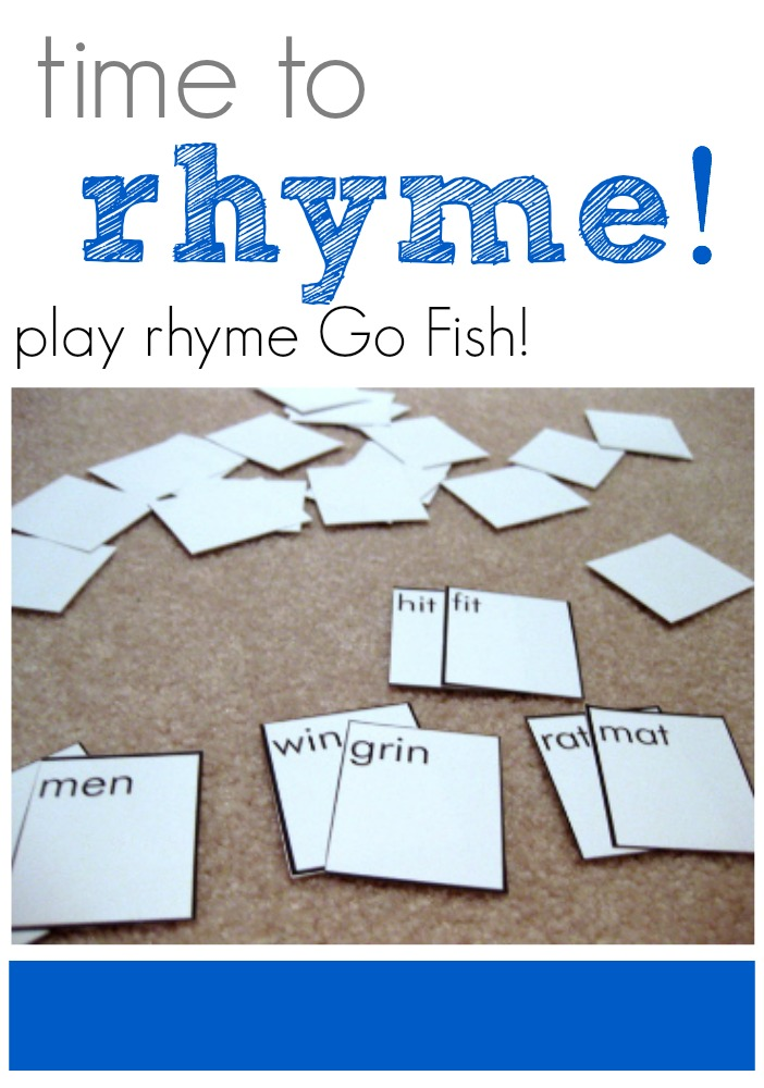time to rhyme: play rhyme Go Fish!