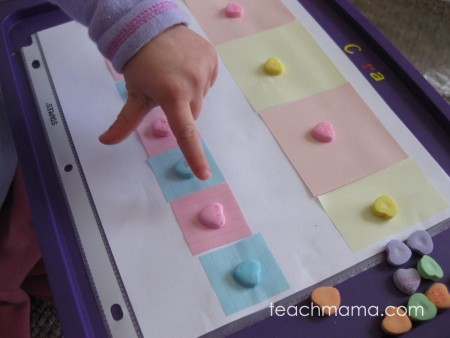 candy heart patterns | teachmama.com