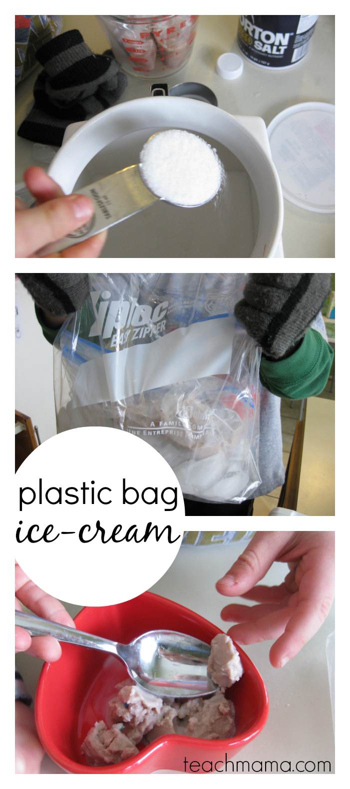 easy, homemade plastic bag icecream | teachmama.com with free printable kid-friendly recipe #weteach