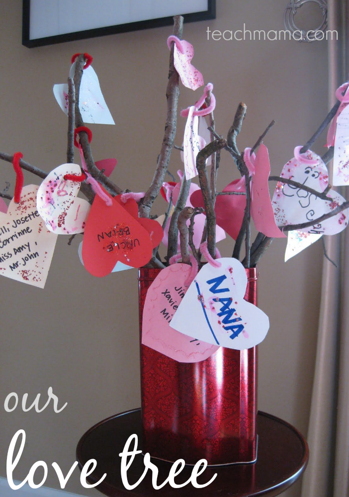 our love tree | valentine's day family fun | teachmama.com