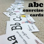 abc exercise cards. . . hooray!