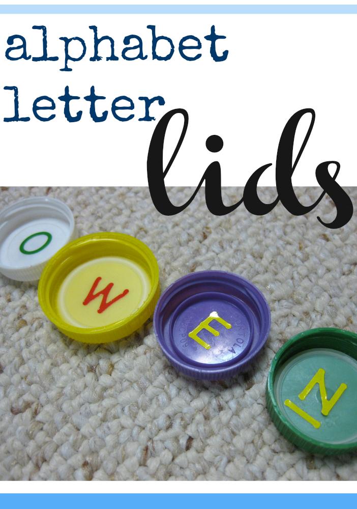 alphabet letter lids