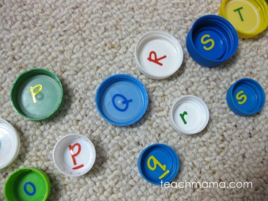 alphabet letter lids | learn with lids | teachmama.com