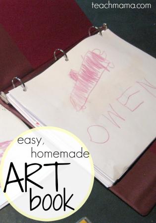 our easy, homemade art book: keep artwork organized!