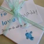 teacher appreciation–finger print note cards