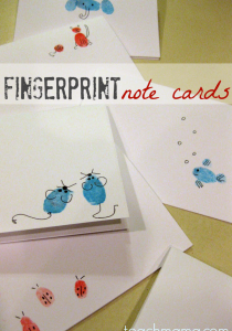 fingerprint note cards teachmama.com