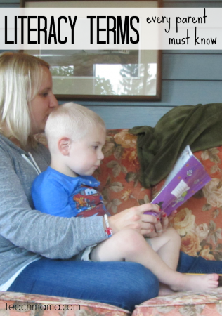 important early literacy terms that every parent needs to know