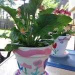 painting flower pots–simple and special gifts