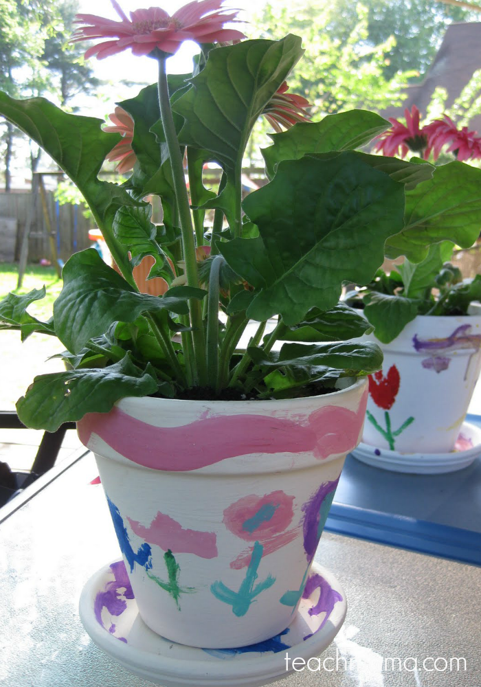 painting flower pots | teachmama.com