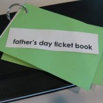 father's day ticket book