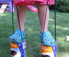 coffee can stilts: old school summer fun