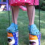 coffee can stilts: old school summer fun