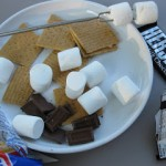 new for us friday: backyard s'mores, s'mores train