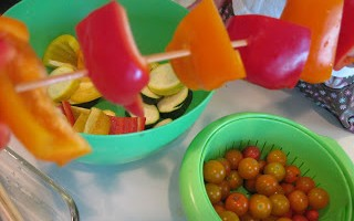 math in the kitchen with veggie kabob patterns
