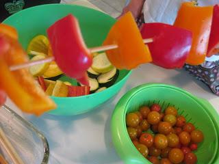 math in the kitchen with veggie kabob patterns