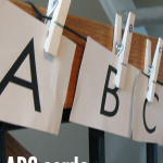 abc cards and clothespin match