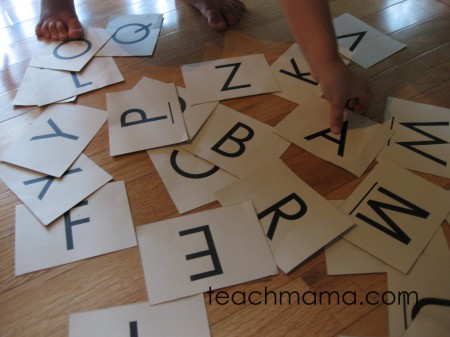 abc cards and clothespin match | teachmama.com