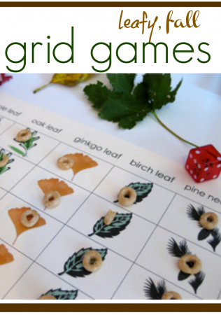 fun fall grid games = math and literacy learning!