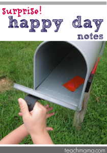 surprise happy day notes