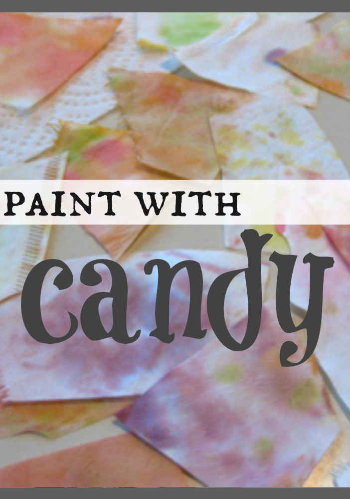 paint with candy | candy experiments