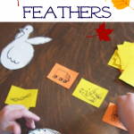 playing turkey feathers: matching beginning sounds