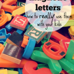 quick trick: magnetic letters (how to use them with your kids!)