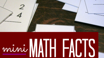 mastering math facts with mini flash cards