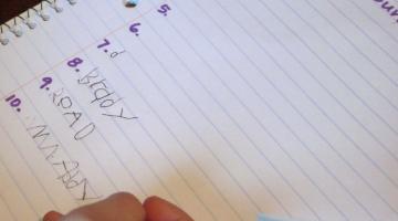 getting kids to write: write around the room