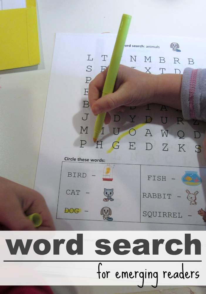 letter and word learning: cora's word search puzzles