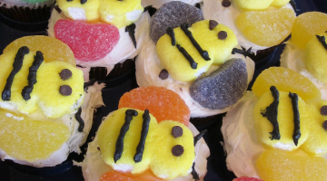 how to make bumblebee cupcakes
