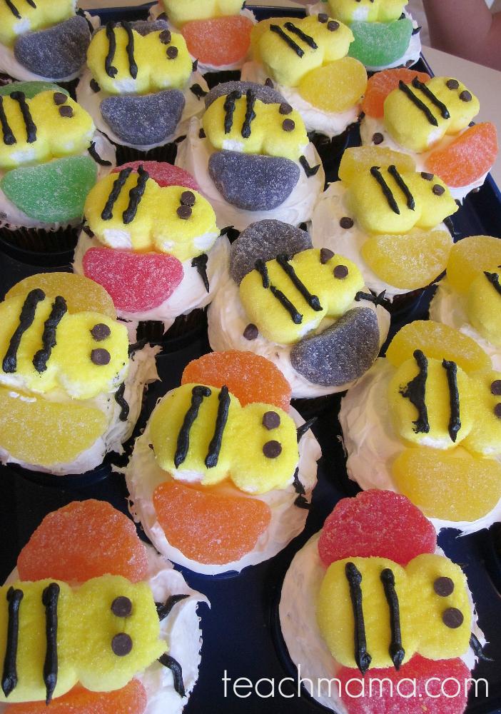 bumblebee cupcakes teachmama.com