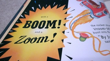 pow! bam! wow! print referencing and onomatopoeia