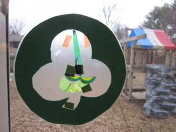 shamrock stained glass teachmama.com