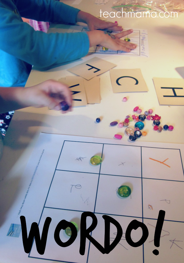 a game for practicing spelling, sight words, or letters: WORDO   teachmama.com