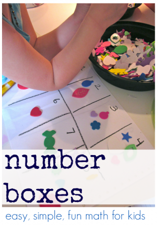 number boxes: easy fun math for kids