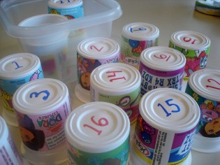 counting with cups