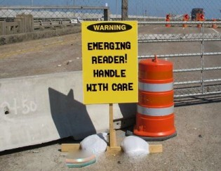 emerging reader sign